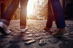 Two people walking...<!--                        -->                        <br /><a href=
